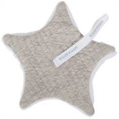 Doudou attache sucette Pure grey (15 x 15 cm)