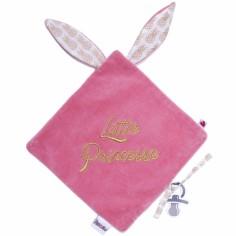 Doudou plat attache sucette Ananas Little princesse