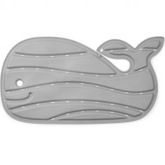 Tapis de bain Moby baleine gris