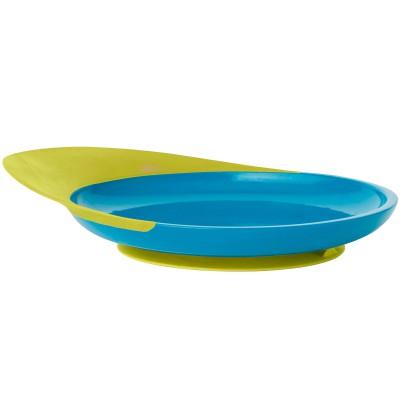 Assiette ventouse Catch plate vert et bleu  par Boon