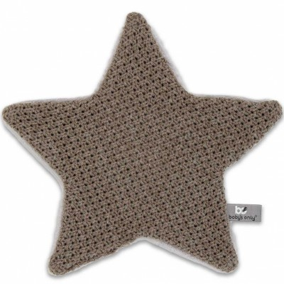 Doudou plat étoile Robust Maille taupe (30 x 30 cm) Baby's Only