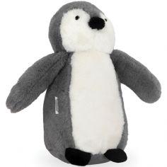 Peluche pingouin storm grey gris (23 cm)