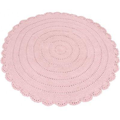 Tapis rond en crochet rose (110 cm)  par Kids Depot