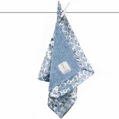 Doudou couverture Chenille lustre matrix bleu (40 x 40 cm)