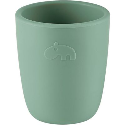 Gobelet en silicone Ozzo hippopotame vert (160 ml)  par Done by Deer