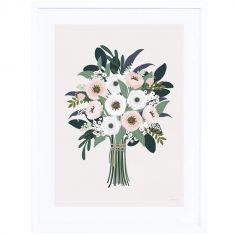 Affiche encadrée bouquet d'anémones Wonderland (30 x 40 cm)