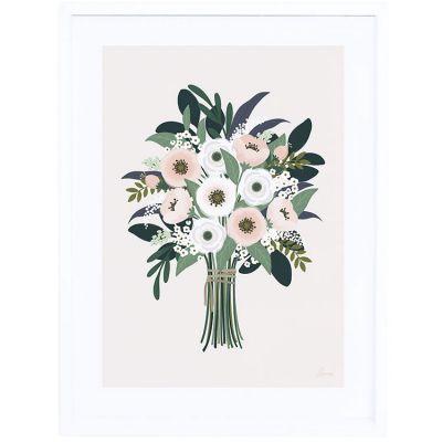 Affiche encadrée bouquet d'anémones Wonderland (30 x 40 cm)  par Lilipinso