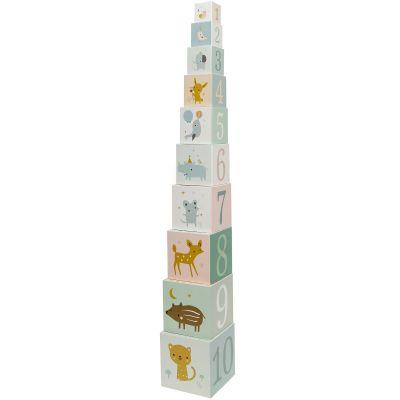 Cubes empilables Forest friends (10 cubes)  par Petit Monkey