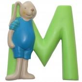 Lettre en résine M - Moulin Roty