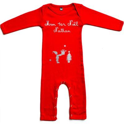 Pyjama personnalisable Mon Premier Noël  (3 mois)