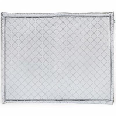 tapis de parc plastifi gris argent cir 75 x 95 cm. Black Bedroom Furniture Sets. Home Design Ideas