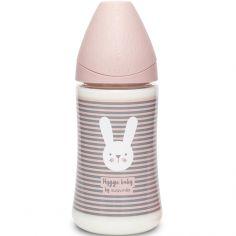Biberon Hygge Baby lapin rayé rose (270 ml)