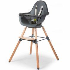 Chaise haute Evolu One.80° naturel et gris