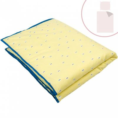 Housse de couette taie chats jaune 100 x 135 cm for Housse de couette mimi la souris