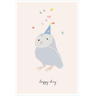 Affiche Chouette Happy day (60 x 40 cm)  par Mimi'lou