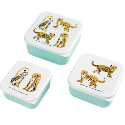 Lot de 3 boîtes à goûter Le Petit Lucas Du Tertre Le Jaguar Petit Jour Paris