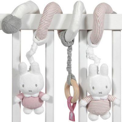 Spirale d'activités lapin Miffy rose velours  par Pioupiou et Merveilles