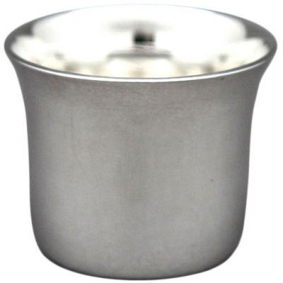 Coquetier évasé Uni personnalisable (métal argenté)  par Aubry-Cadoret