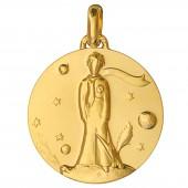 Médaille Petit Prince au renard 23 mm (or jaune 750°) - Monnaie de Paris