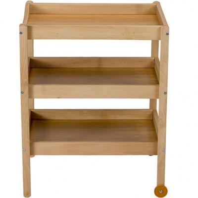 Table à langer en bois Susie 3 plateaux Vernis naturel