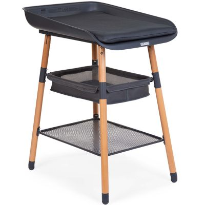 Table à langer Evolux naturel anthracite  par Childhome