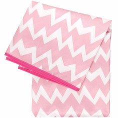 Tapis protecteur sol ou table Chevron rose