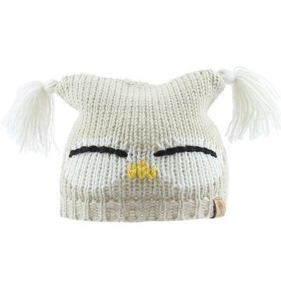 Bonnet en tricot hibou (12-18 mois)