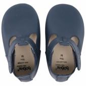 Chaussons en cuir Soft soles bleu marine (3-9 mois) - Bobux