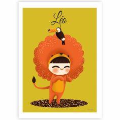 Affiche A4 Les adorables costumés Le lion (personnalisable)