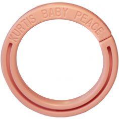 Anneau pour protection de poussette rose clair