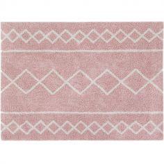 Tapis rectangulaire Oasis rose (120 x 160 cm)