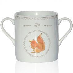 Tasse en porcelaine Ecureuil (personnalisable)