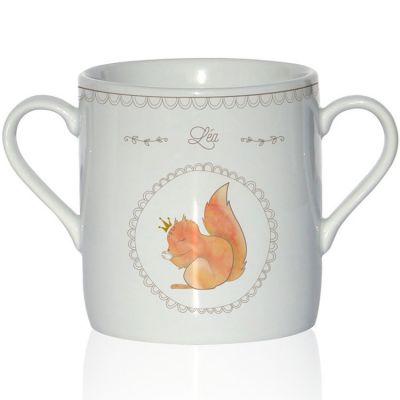 Tasse en porcelaine Ecureuil (personnalisable)  par Gaëlle Duval
