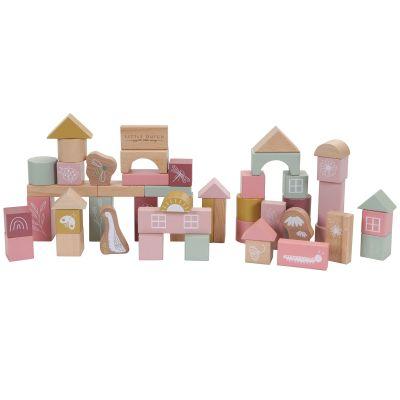 Blocs de construction Wild Flowers (50 pièces)  par Little Dutch