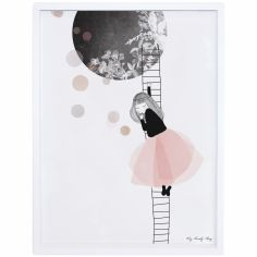 Affiche encadrée lune The moon by My Lovely Thing (30 x 40 cm)