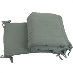 Tour de lit petit modèle vert d'eau (pour lits 60 x 120 cm)