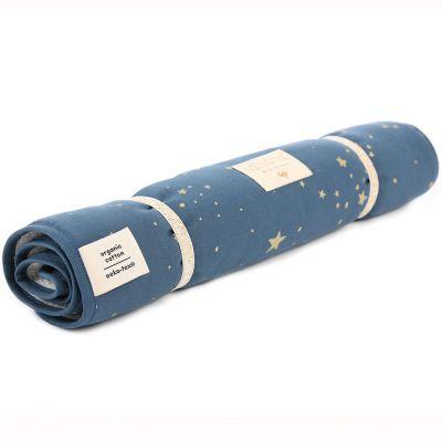 Tapis à langer Nomad Gold stella Night blue (35 x 60 cm)  par Nobodinoz