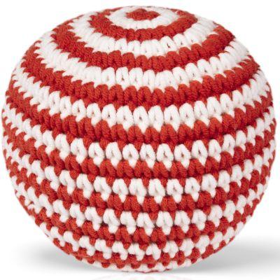 Balle tricotée rouge (11 cm)  par Just Dutch