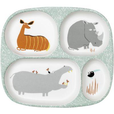 Assiette à compartiments Savane  par Maison Petit Jour