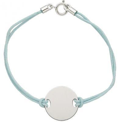 bracelet cordon plaque unie or blanc 750. Black Bedroom Furniture Sets. Home Design Ideas
