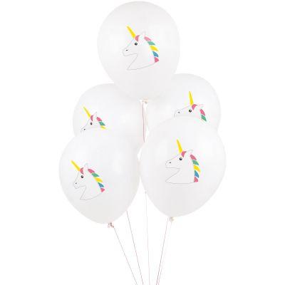 Ballons de baudruche Licorne (5 pièces)