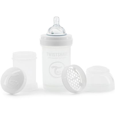 Biberon anti-colique blanc (180 ml)  par Twistshake