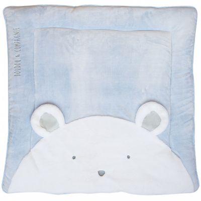 Tapis de jeu Tapidou ours bleu (100 x 100 cm) Doudou et Compagnie