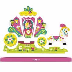 Puzzle vertical magnétique Princesse (9 pièces)