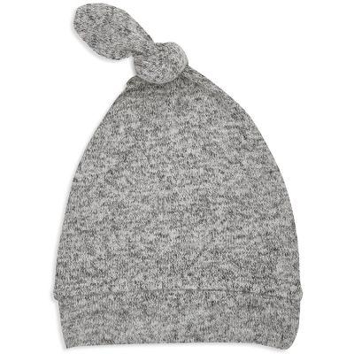 Bonnet de naissance en maille heather grey (0-3 mois)  par aden + anais