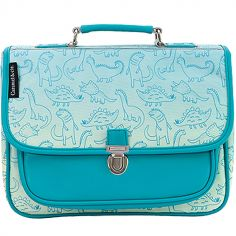 Cartable maternelle Dinosaure turquoise