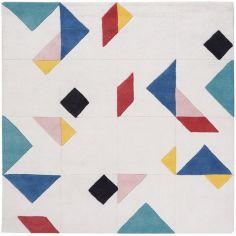 Tapis coton tangram (150 x 150 cm)