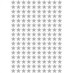 Stickers étoiles argent (29,7 x 42 cm)