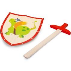 Epée et bouclier Dragon vert