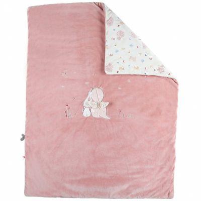 Couverture bébé en veloudoux Lina & Joy (75 x 100 cm)  par Noukie's